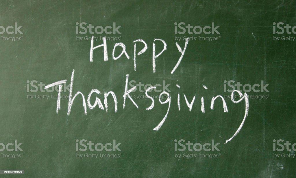 happy thanksgiving title stock photo