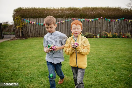 istock Happy They Found Some Easter Eggs 1089668784