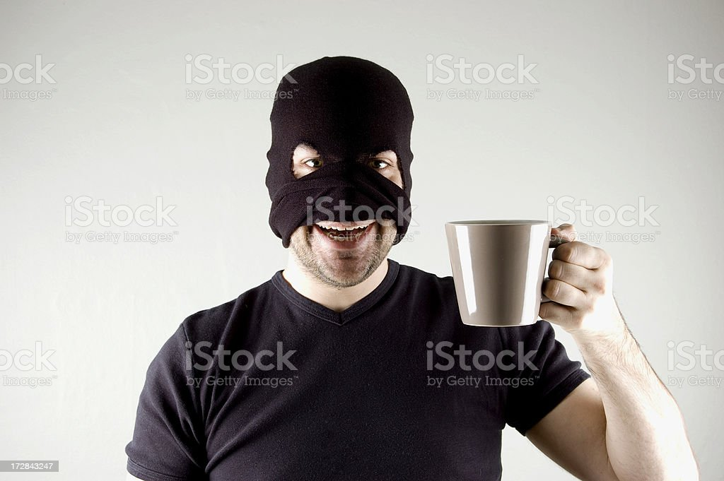 happy thief stock photo
