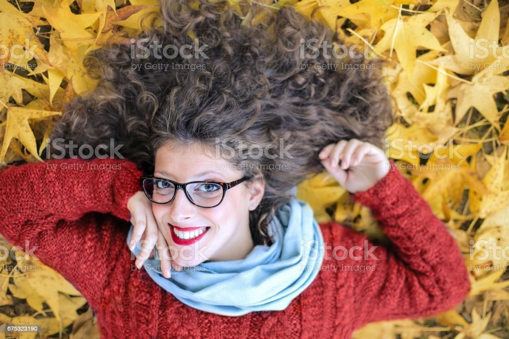 Happy to be in the nature stock photo