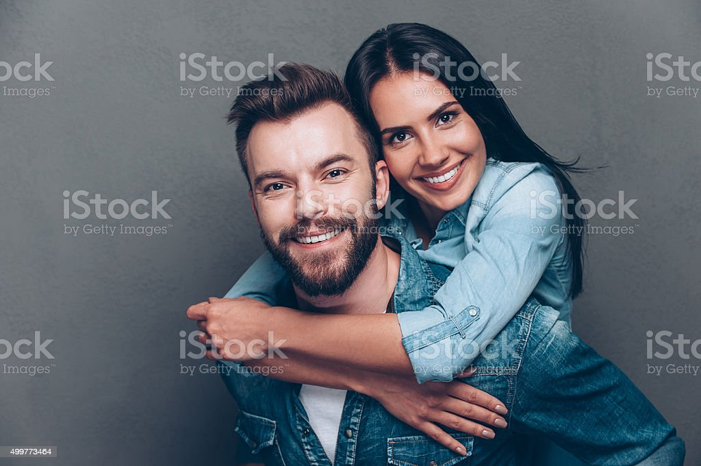 Happy to be together. stock photo