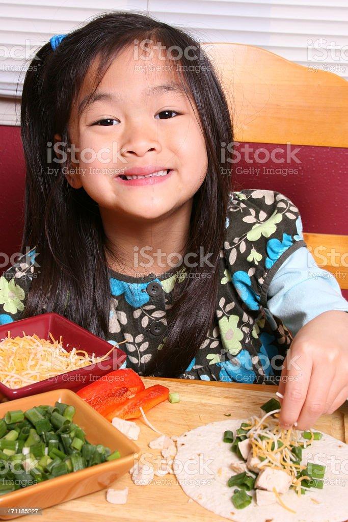 Happy to eat healthy royalty-free stock photo