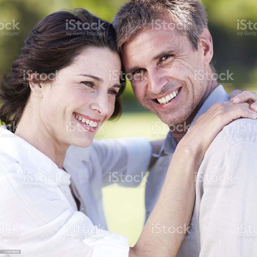 Happy to have her in his life royalty-free stock photo