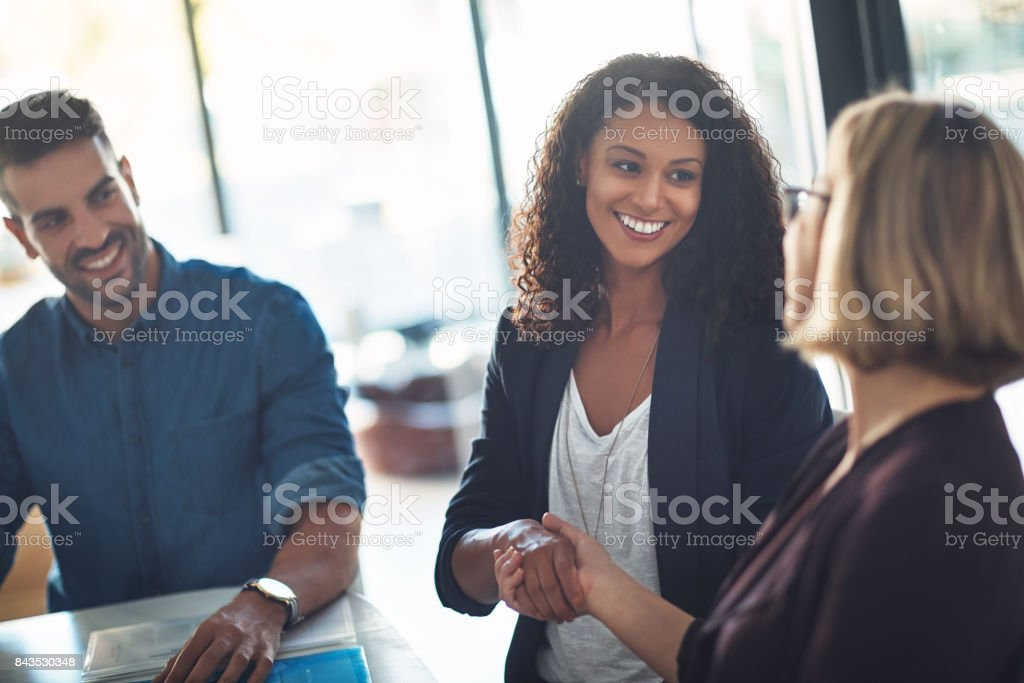 Happy to have you on the team stock photo