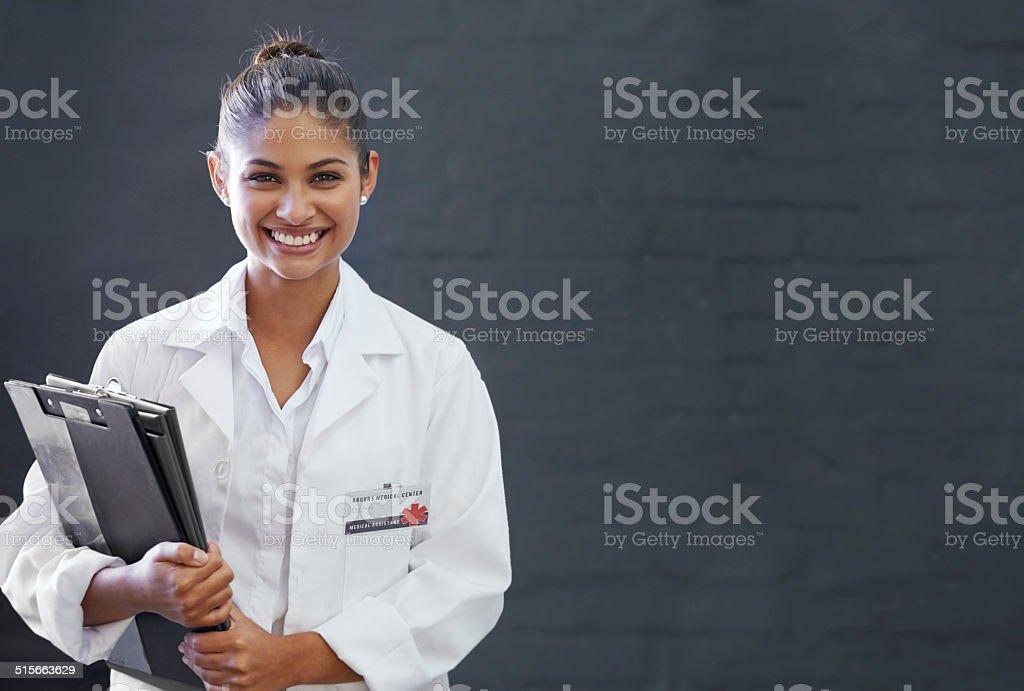 Happy to heal stock photo