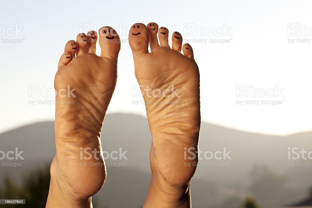 Happy Toes stock photo