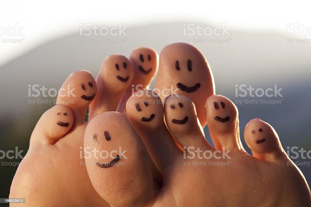 Happy Toes stock photo