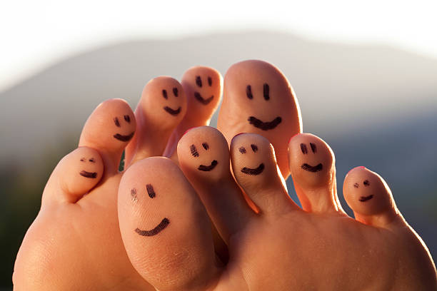 happy toes - podiatry stock pictures, royalty-free photos & images
