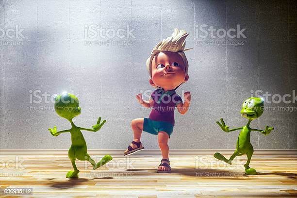 Happy toon kid with his alien friends picture id636985112?b=1&k=6&m=636985112&s=612x612&h=ogn6 0l96nzfo wl7abiaed m6qbtxtnxbc0ax7x0tq=