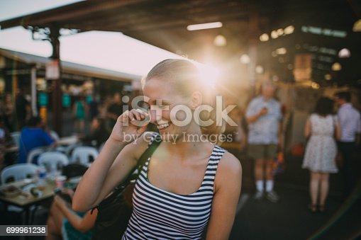 istock Happy Tourist In Queen Victoria Market 699961238