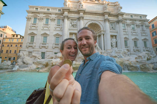 Happy travel couple trowing coin at trevi fountain rome italy for picture id1094738900?b=1&k=6&m=1094738900&s=612x612&w=0&h=e4d5dgc6cxnfnwcx fbfczythjydnh9nfho9gogcacy=