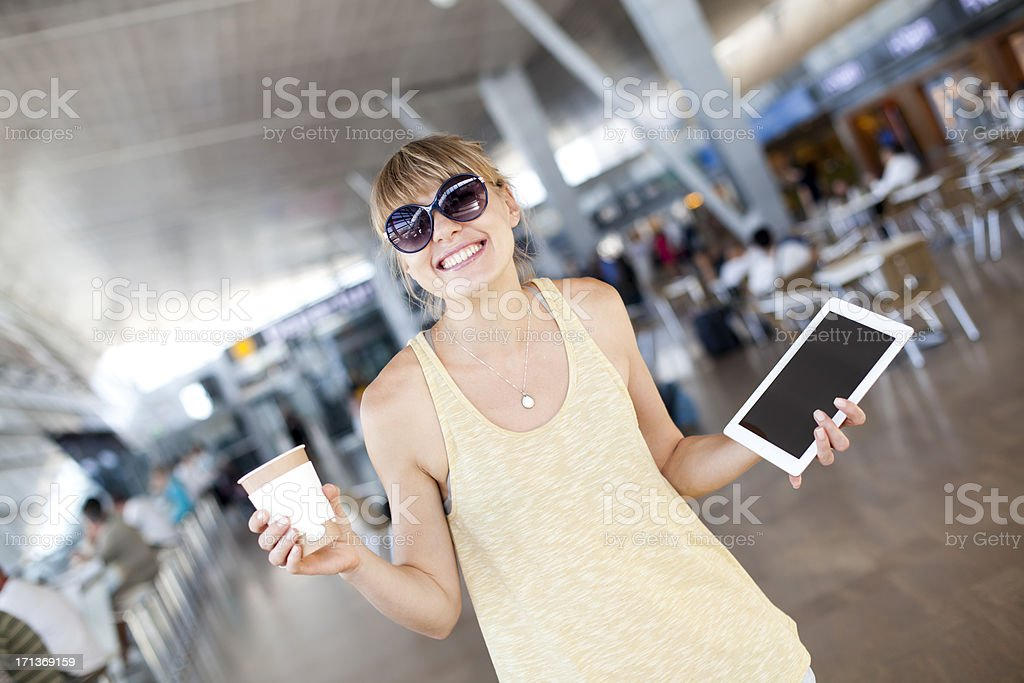 Happy Travel stock photo