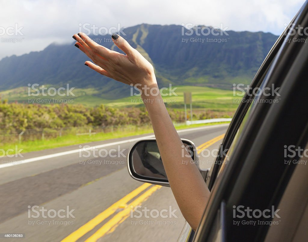 Happy traveling stock photo
