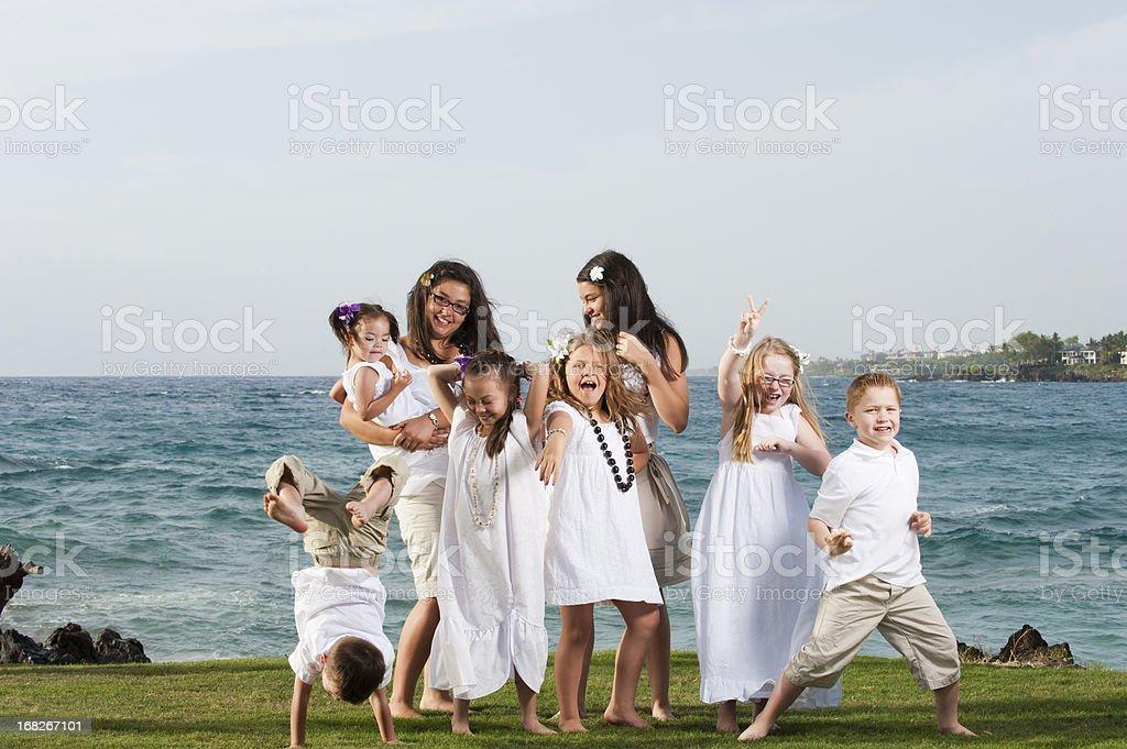 Happy Tropical Kids royalty-free stock photo
