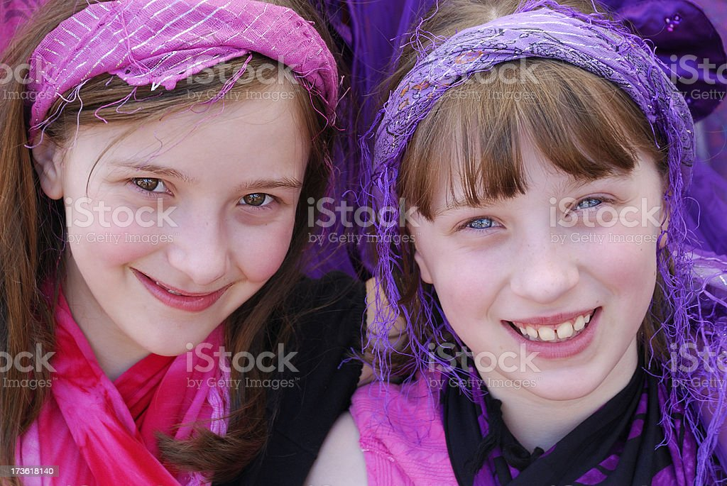 Happy Twins royalty-free stock photo