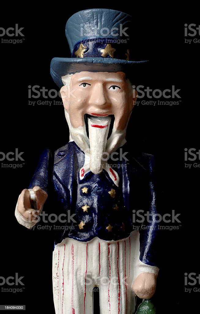 Happy Uncle Sam – Up Close & Personal royalty-free stock photo