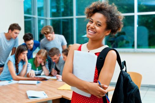 Happy University Student Stock Photo - Download Image Now