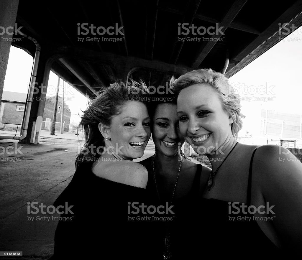 happy urban female portraits royalty-free stock photo