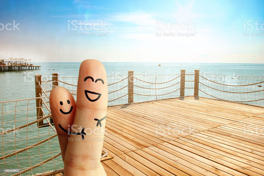 Happy Vacation stock photo