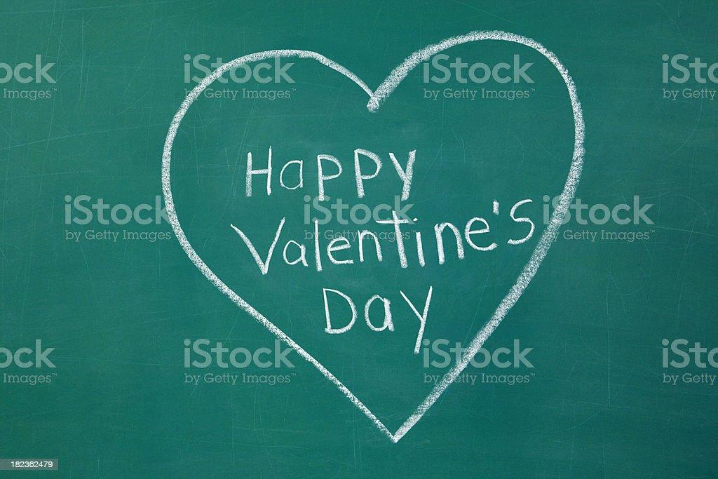Happy Valentine's Day  Chalkdrawing. stock photo