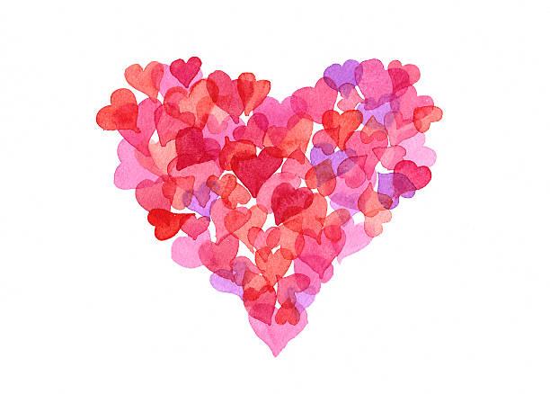 Happy Valentine's Day heart aus hearts – Foto