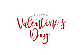 Happy Valentine's Day Holiday Red Glitter Text