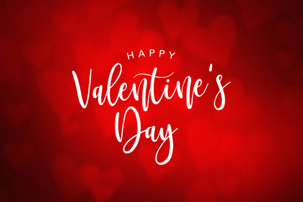Happy Valentine's Day Holiday Text stock photo