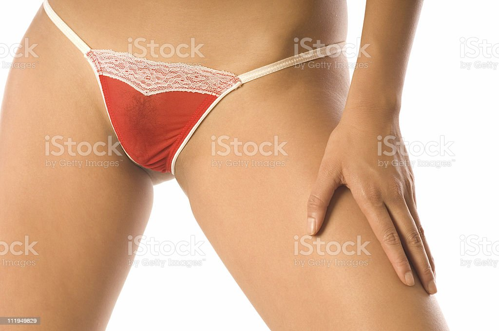 Happy Valentine's Day Panties Isolated on White Background stock photo