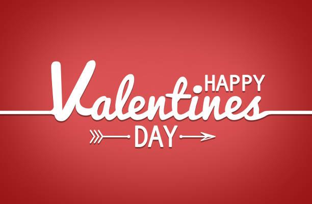 cartel de tipografía de feliz día de san valentín con texto de caligrafía manuscrita - día de san valentín fotografías e imágenes de stock