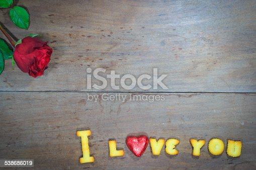 istock Happy Valentine's Day  with word I Love You 538686019