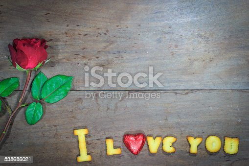 istock Happy Valentine's Day  with word I Love You 538686021