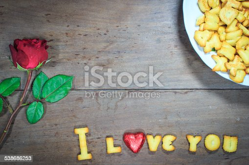 istock Happy Valentine's Day  with word I Love You 538686253