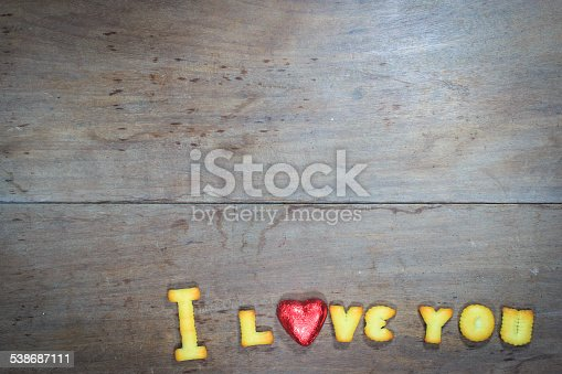 istock Happy Valentine's Day  with word I Love You 538687111
