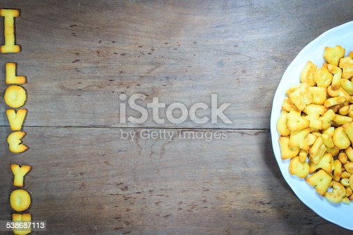 istock Happy Valentine's Day  with word I Love You 538687113