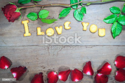 istock Happy Valentine's Day  with word I Love You 538687127