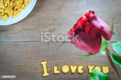 istock Happy Valentine's Day  with word I Love You 538689069