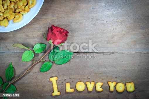 istock Happy Valentine's Day  with word I Love You 538689699