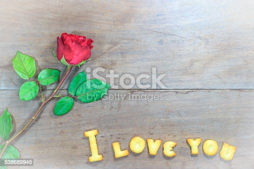 istock Happy Valentine's Day  with word I Love You 538689945