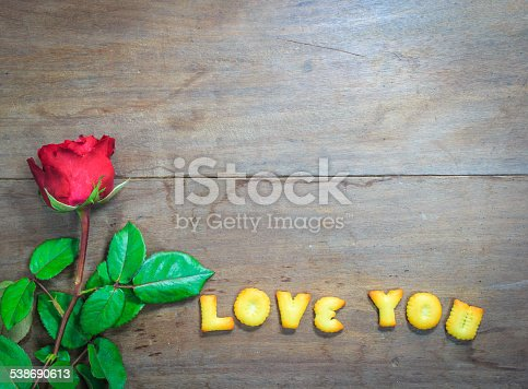 istock Happy Valentine's Day  with word I Love You 538690613