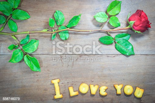 istock Happy Valentine's Day  with word I Love You 538746073