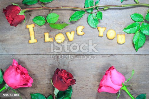 istock Happy Valentine's Day  with word I Love You 538747189
