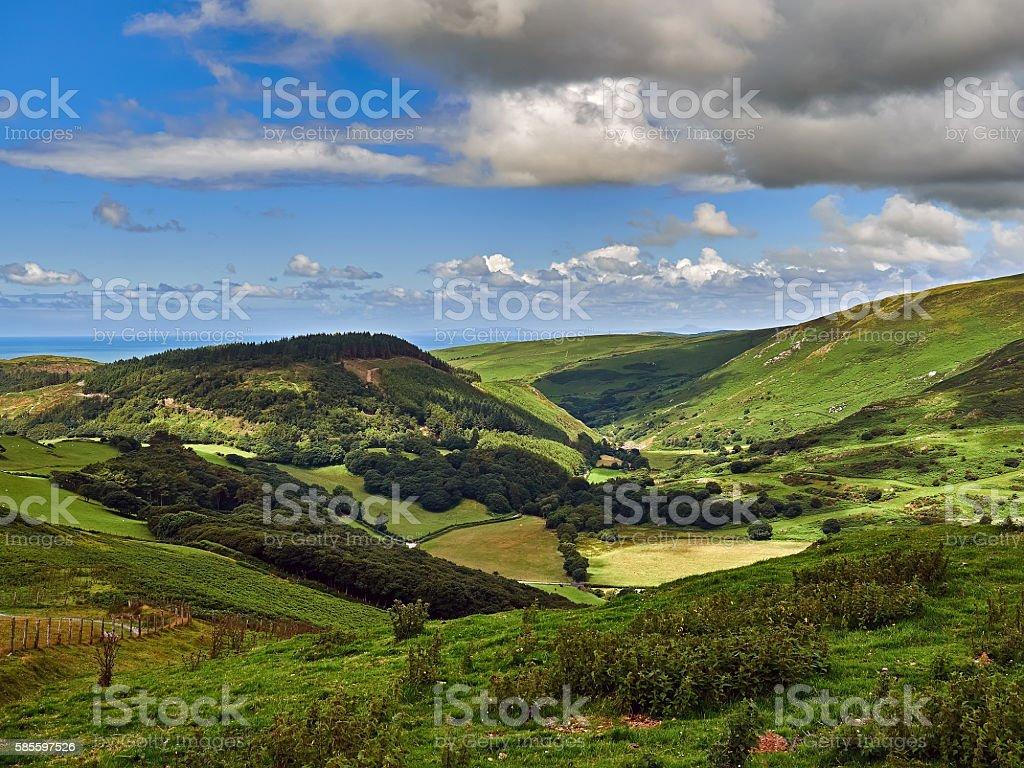 Happy Valley or Cwm Maethlon stock photo