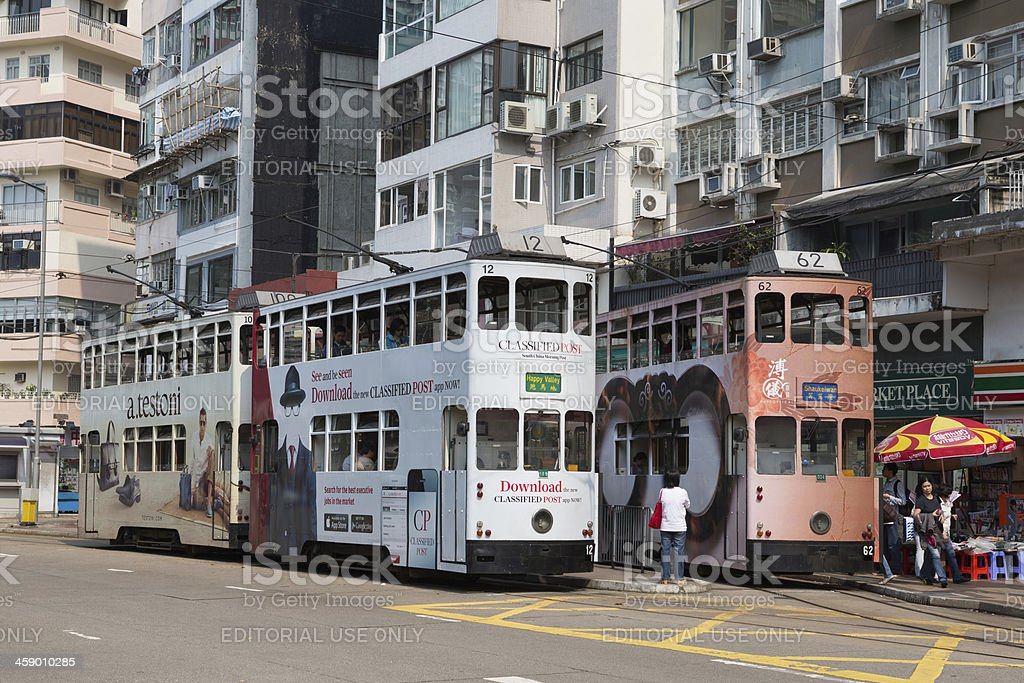 Happy Valley Tram Terminus royalty-free stock photo