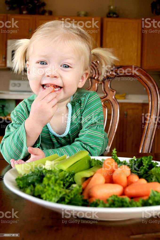 Happy Vege Eater royalty-free stock photo