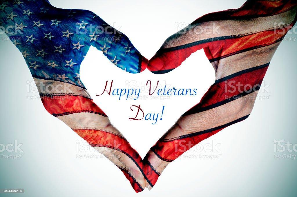 happy veterans day stock photo