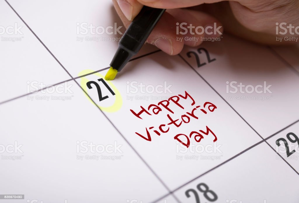 Happy Victoria Day stock photo