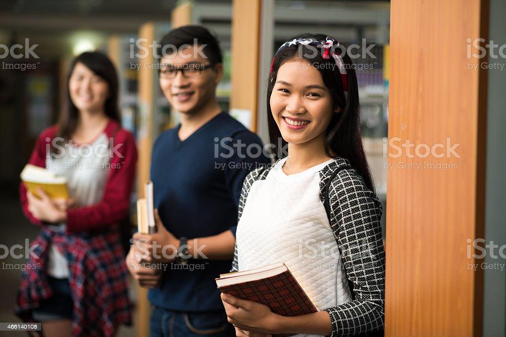 Happy Vietnamese students stock photo