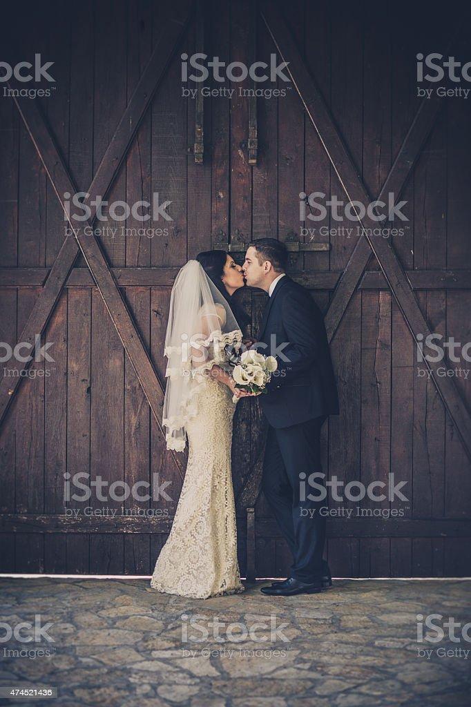 Happy wedding couple stok fotoğrafı