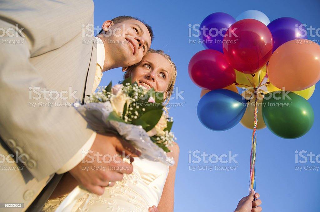 happy wedding pair royalty-free stock photo