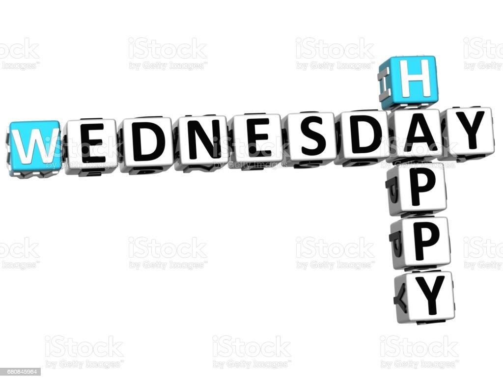3d Happy Wednesday Crossword Stock Photo - Download Image Now - iStock